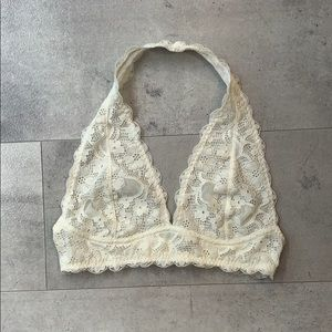 Free People White Lace Bralette Size S